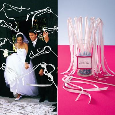 white-ribbon-wands