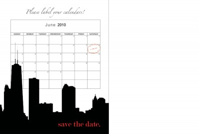 chicago postcard save the date