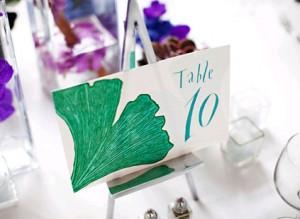 teal-leaf-handdrawn-table-numbers
