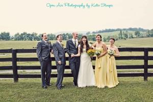 yellow-bridesmaids-dresses-gray-groomsmen-suits-farm-wedding