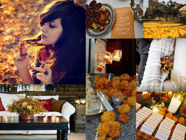 yellow-orange-brown-fall-wedding-inspiration-board