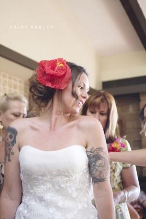 Bride Pink Flower Headpiece