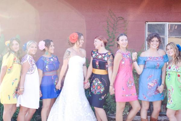 Mexican Peasant Bridesmaids Dresses