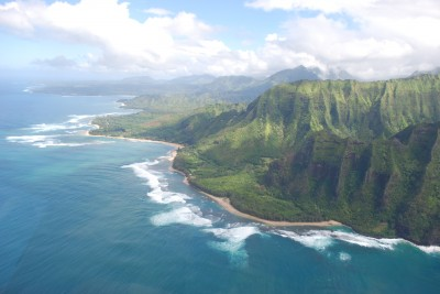 north shore of kauai by helicopter