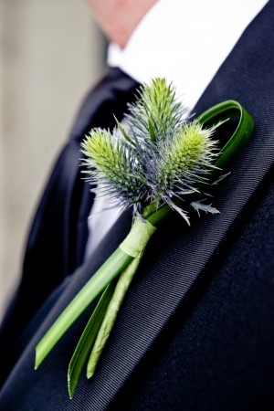 green-boutonniere