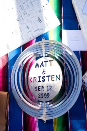 Hanging Tin Wedding Sign