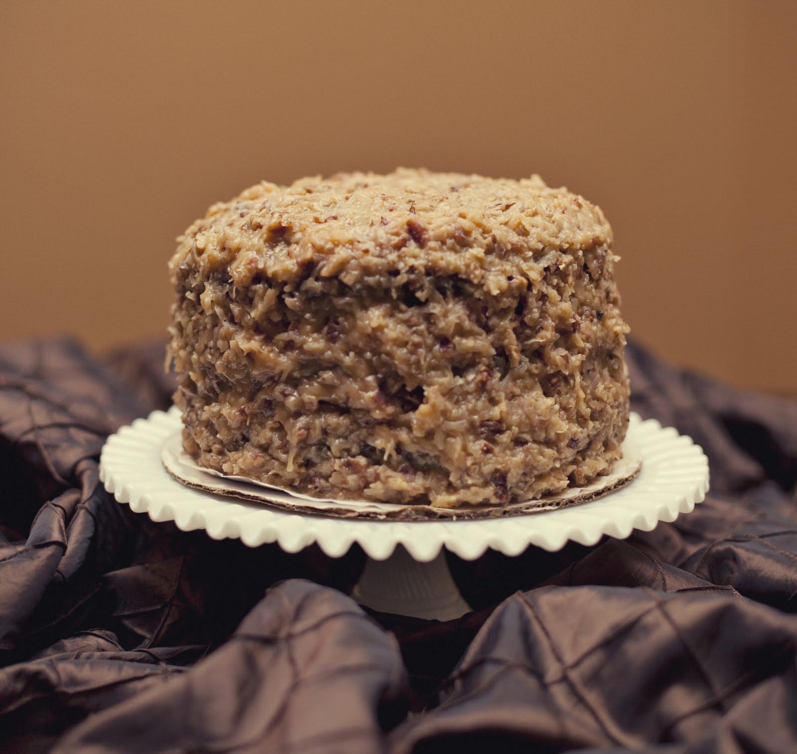 Homemade German Chocolate Cake For Wedding Buffet