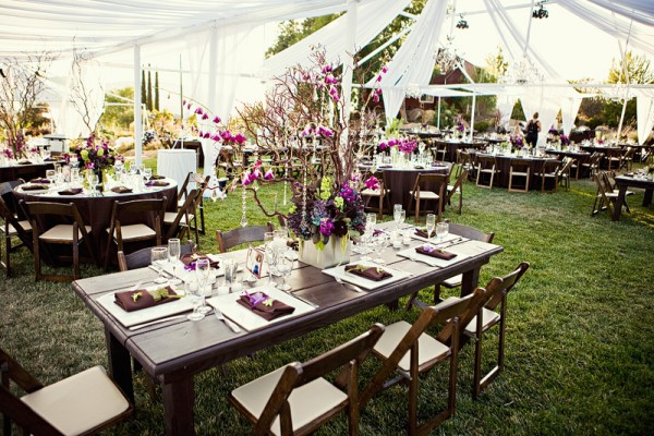 wedding reception round tables
