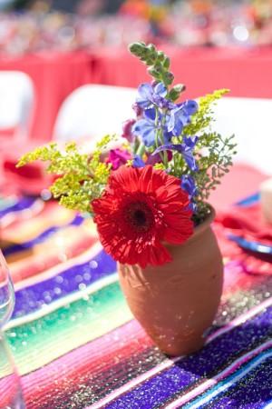 Multicolored Centerpiece Clay Vase