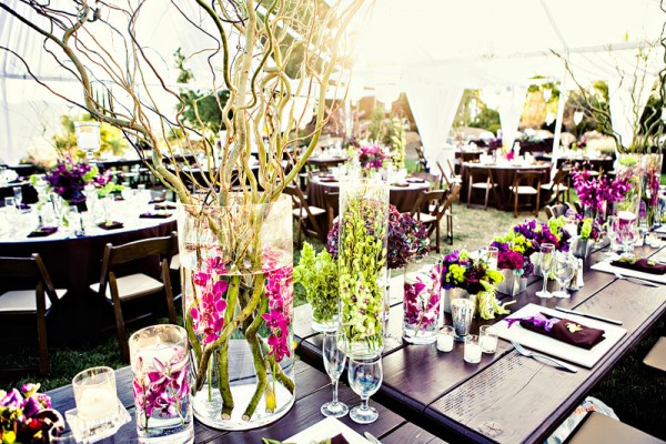 purple-green-pink-orchid-branch-centerpieces-submerged-flowers-brown ...