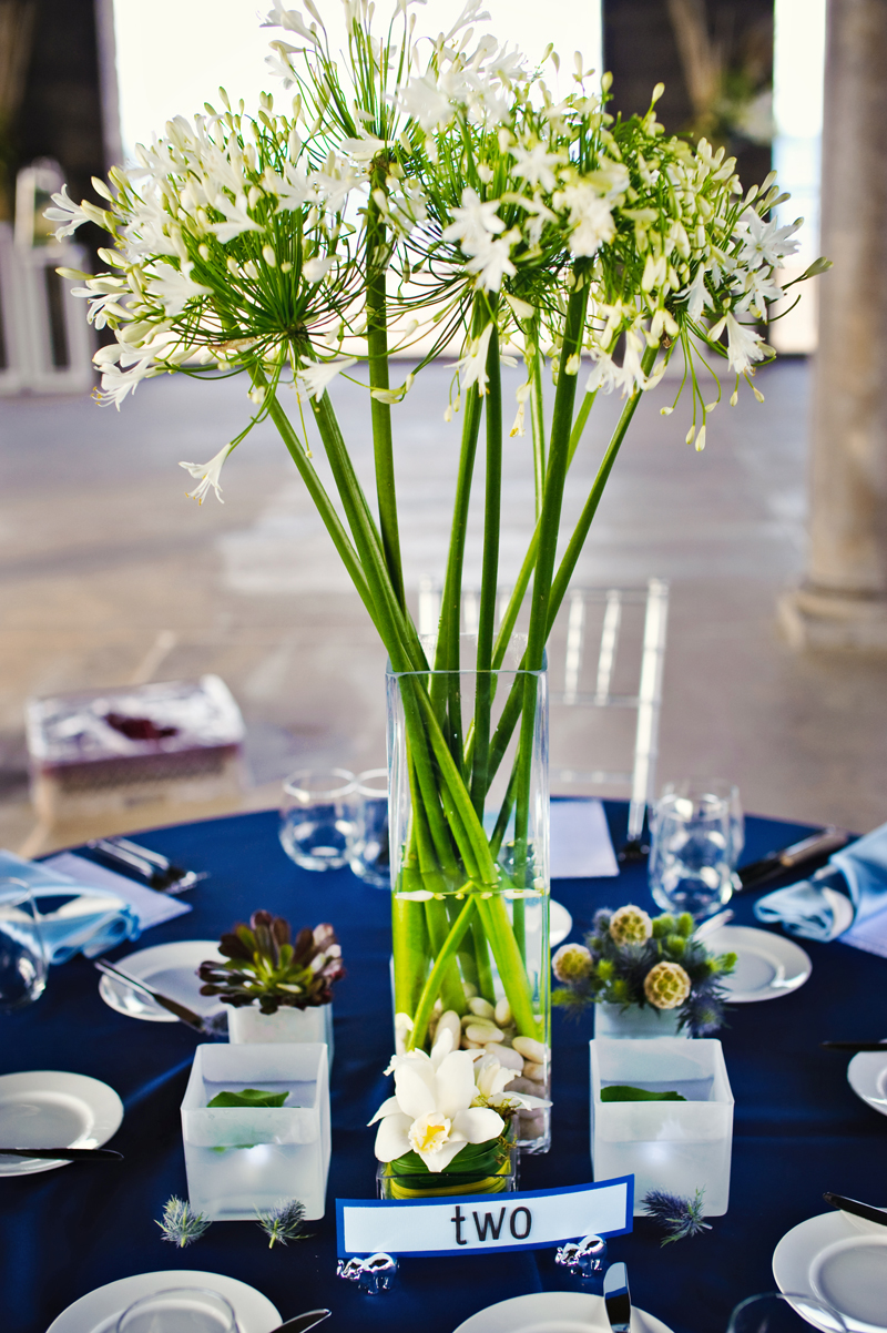 White and green tall centerpieces elizabeth anne designs