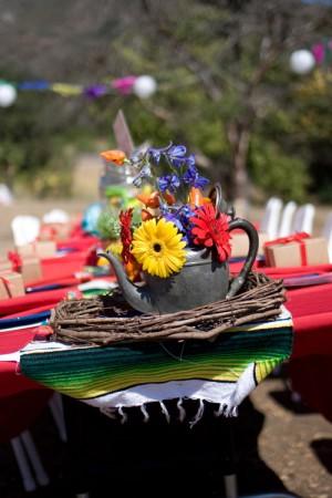 Multicolor Centerpieces Fiesta Wedding
