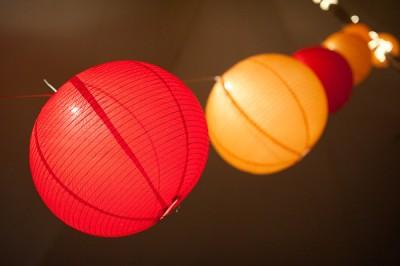 red and orange chinese lanterns