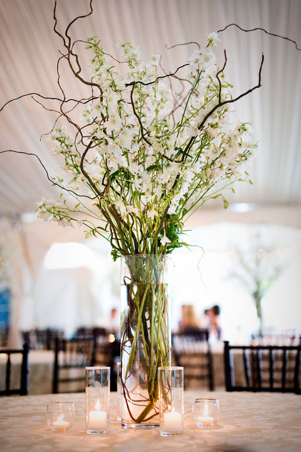 Branch centerpieces white green brown elizabeth anne designs the branch centerpieces white green brown junglespirit Choice Image