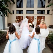 bride-and-bridesmaids-entering-church