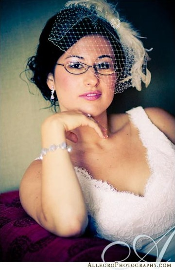 bride-with-glasses-birdcage-veil