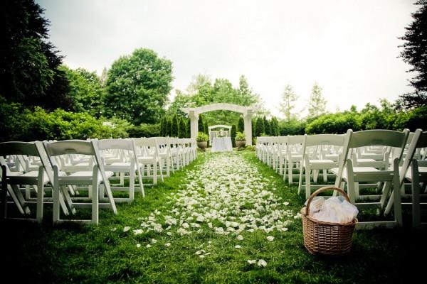 garden-wedding-ceremony-flower-petal-aisle - Elizabeth Anne Designs ...