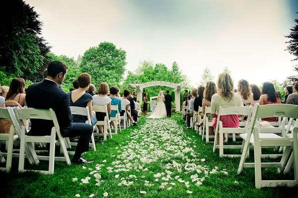 Indianapolis Museum Of Art Garden Wedding Ceremony