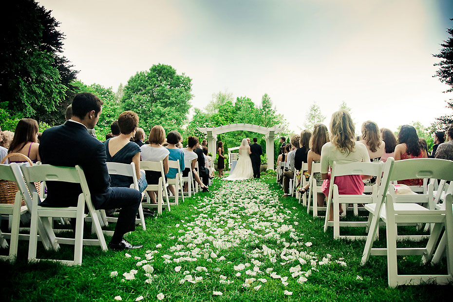 Outdoor Wedding Ceremony Garden Wedding: Chocolate Brown And Green Indianapolis Garden Wedding