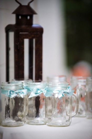 mason-jars-tied-with-blue-ribbons