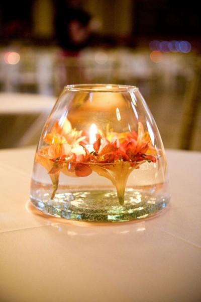 red-yellow-submerged-flower-centerpiece
