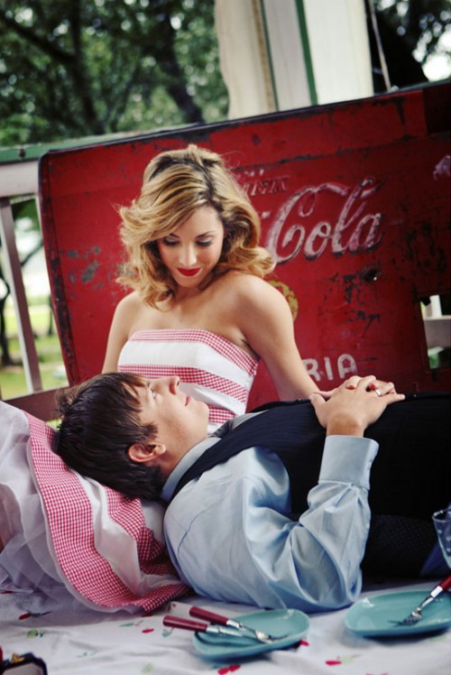vintage-coca-cola-inspired-engagement-session