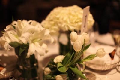 white-hydrangea-orchid-tulip-cluster-centerpieces