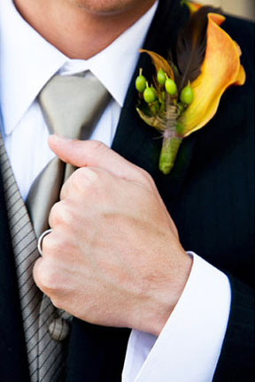yellow-and-green-boutonniere