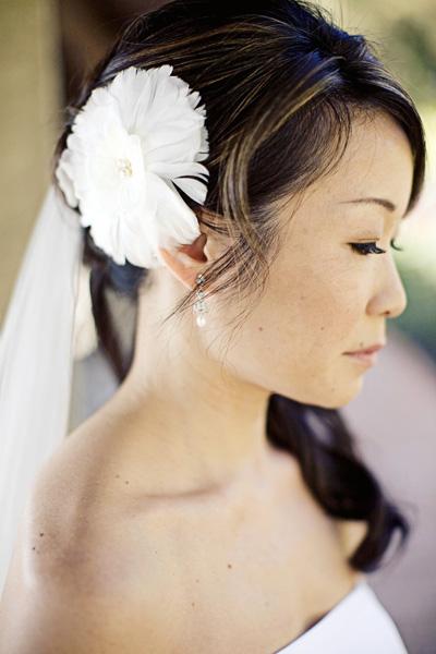 Bride White Hair Flower