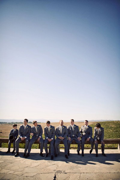 groomsmen-gray-suits-yellow-ties