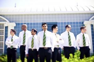 groomsmen-green-striped-ties