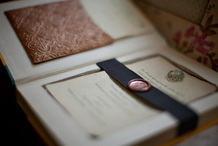 hollowed book wedding invitation - Book Wedding Invitations