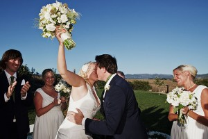 just-married-first-kiss