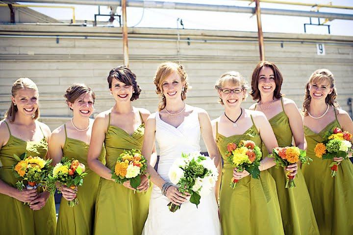 Lime Green Bridesmaids Dresses Elizabeth Anne Designs The Wedding
