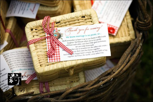 Miniature Picnic Baskets Wedding Favors Elizabeth Anne Designs