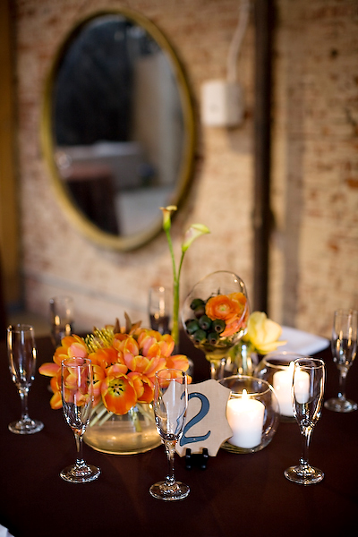 orange-and-brown-centerpieces
