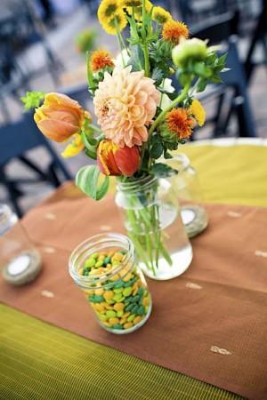 peach-yellow-green-diy-flower-arrangements