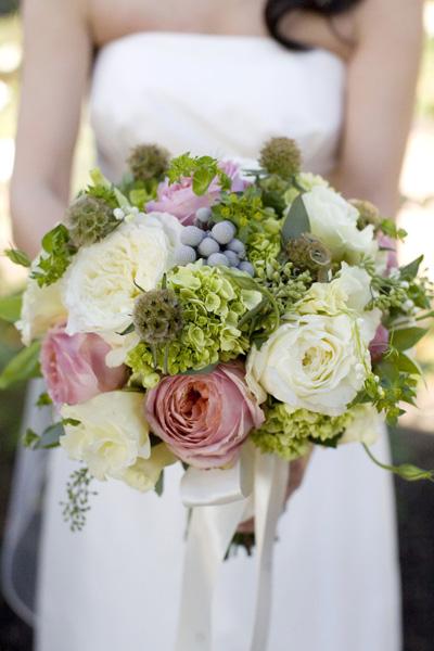 Pink Green Gray Bouquet