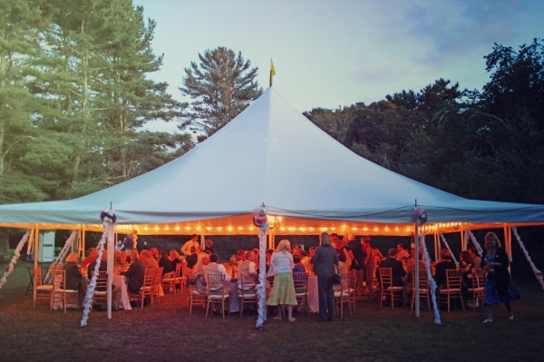 Reception Tent Farmhouse Wedding
