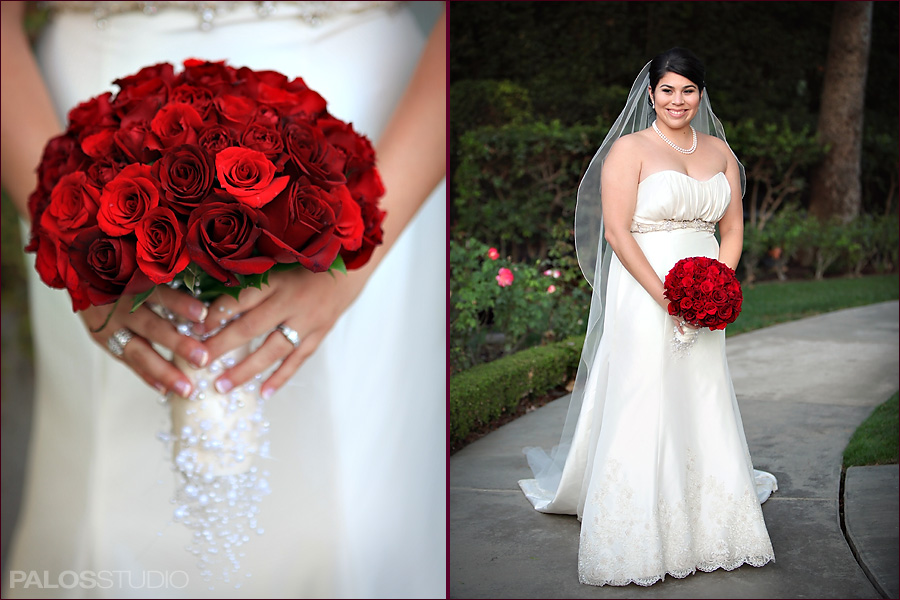 Red Wedding Party Bouquets
