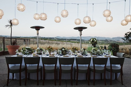 rustic-centerpieces-green-brown-white