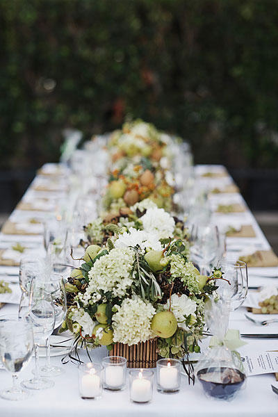 rustic-green-and-brown-centerpieces