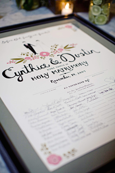 signed-poster-wedding-guestbook