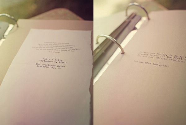 Typewriter Wedding Notebook