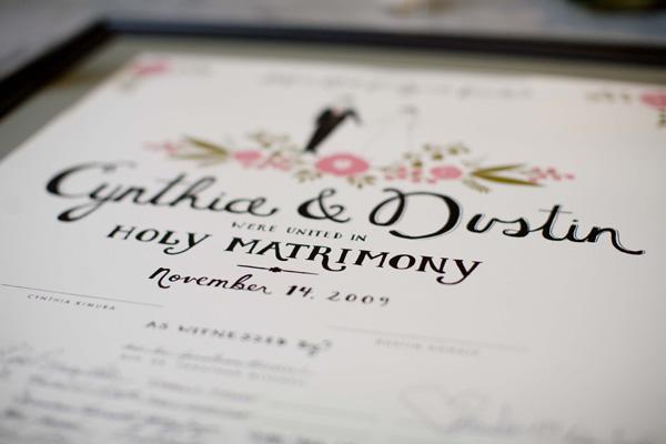 Wedding Certificate Guest Book