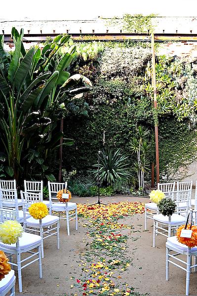 wedding-rosemary-scattered-in-aisle-pomanders