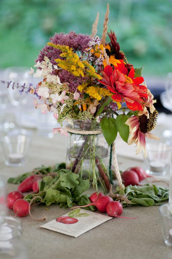 Wildflowers In Mason Jars Farm Wedding Centerpiece Elizabeth Anne