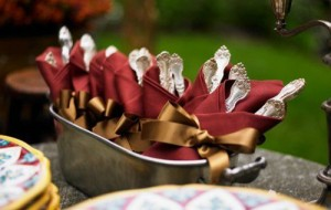 wrapped-silverware-cranberry-linens