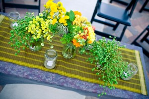 yellow-green-diy-wedding-centerpieces
