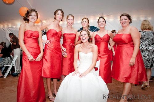 wedding reception bridesmaids